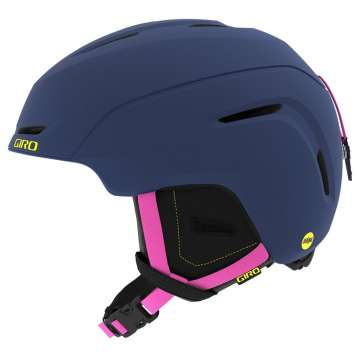 Giro Neo Jr. MIPS Kinder Skihelm - Matte Midnight/Neon Lights