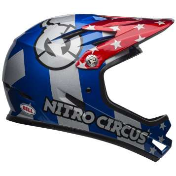 Bell Sanction Helm red/silver/blue nitro