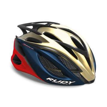 RudyProject Racemaster Helme gold-blau-rot