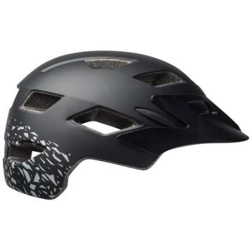 Bell Sidetrack Youth MIPS Velohelm matte black/silver fragments