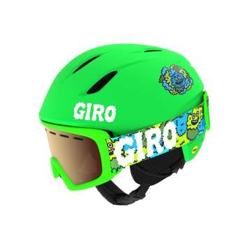 Giro Launch Combo Kinder Set - Matte Bright Green/Lilnugs