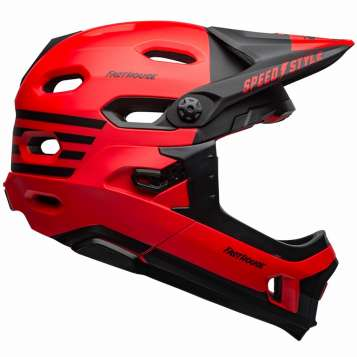 Bell Super DH MIPS Downhill Helm matte red/black fasthouse