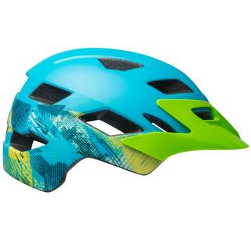 Bell Sidetrack Child Velohelm matte bright blue/bright green