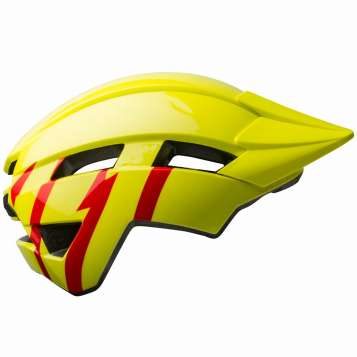 Bell Sidetrack II YC MIPS Kinder Velohelm gloss hi-viz/red
