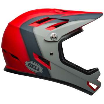 Bell Sanction Velohelm matte crimson/slate/gray