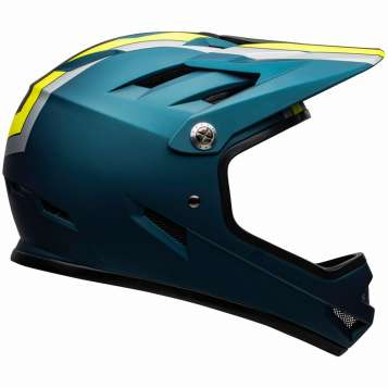 Bell Sanction Helm matte blue/hi-viz