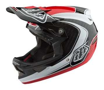 Troy Lee Designs D3 Carbon Mips Velohelm - Mirage Red
