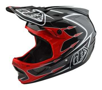 Troy Lee Designs D3 Composite Corona Velohelm - Red/Grey