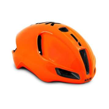 Kask Velohelm Utopia - Orange Fluo, Black