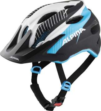 Alpina Carapax Jr. Velohelm - white-black blue