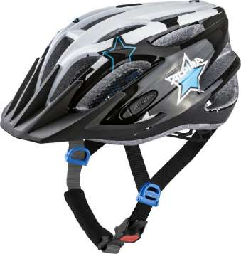 Alpina FB JR. 2.0 Flash Velohelm - black-white-blue