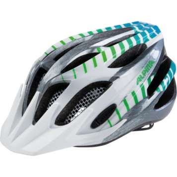 Alpina FB JR. 2.0 Flash Velohelm - white-steelgrey-gradient