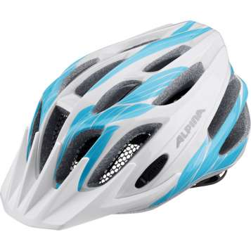 Alpina FB JR. 2.0 Velohelm - white-cyan