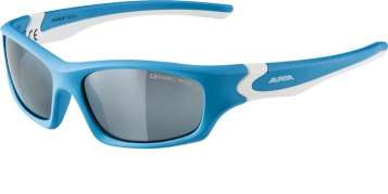 Alpina FLEXXY Teen Sportbrille - cyan-white black mirror