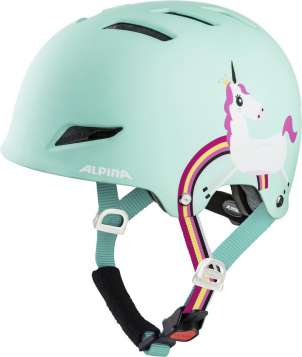 Alpina Park Jr. Velohelm - mint unicorn