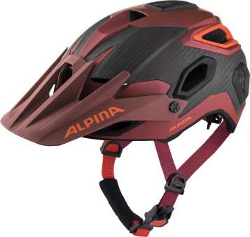 Alpina ROOTAGE Velohelm - indigo-cherry drop