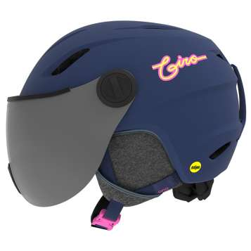 Giro Buzz MIPS Kinder Skihelm - Matte Midnight/Neon Lights