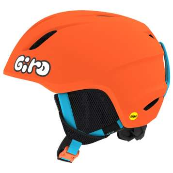 Giro Launch MIPS Kinder Skihelm - Matte Bright Orange/Jelly