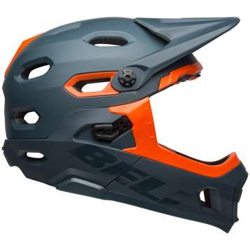 Bell Super DH MIPS Velohelm matte/gloss slate/orange
