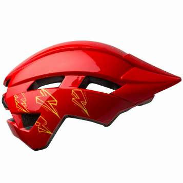 Bell Sidetrack II YC MIPS Kinder Velohelm gloss red bolts