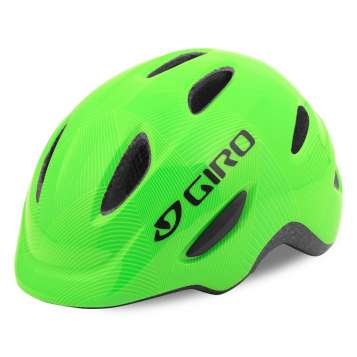 Giro Scamp Velohelm green/lime lines