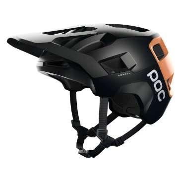POC Kortal Velohelm - Uranium Black / Light Citrine Orange Matt