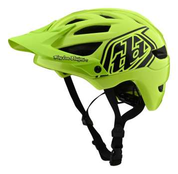 Troy Lee Designs A1 Drone Youth Velohelm - Flo Yellow/Black