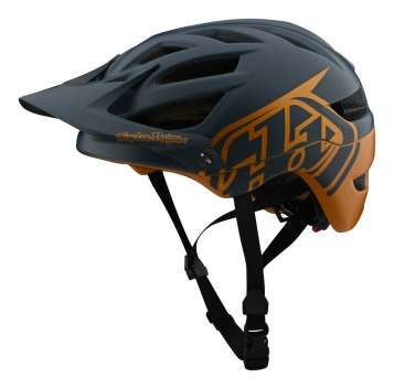 Troy Lee Designs A1 MIPS Velohelm - Classic Grey/Gold