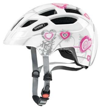Uvex Finale Junior Velohelm - heart white