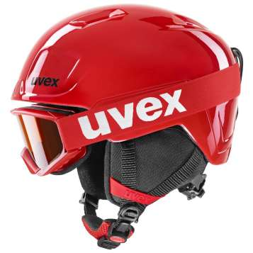 Uvex Heyya Set Skihelm - red - black