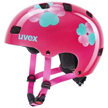 Uvex Kid 3 Kinder Velohelm - Pink Flower