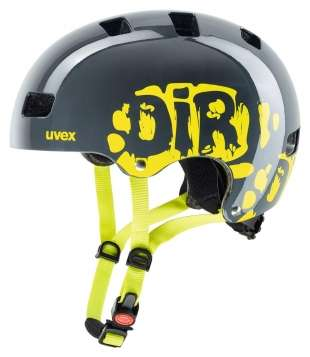 Uvex Velohelm Kinder Kid 3 - dirtbike grey-lime