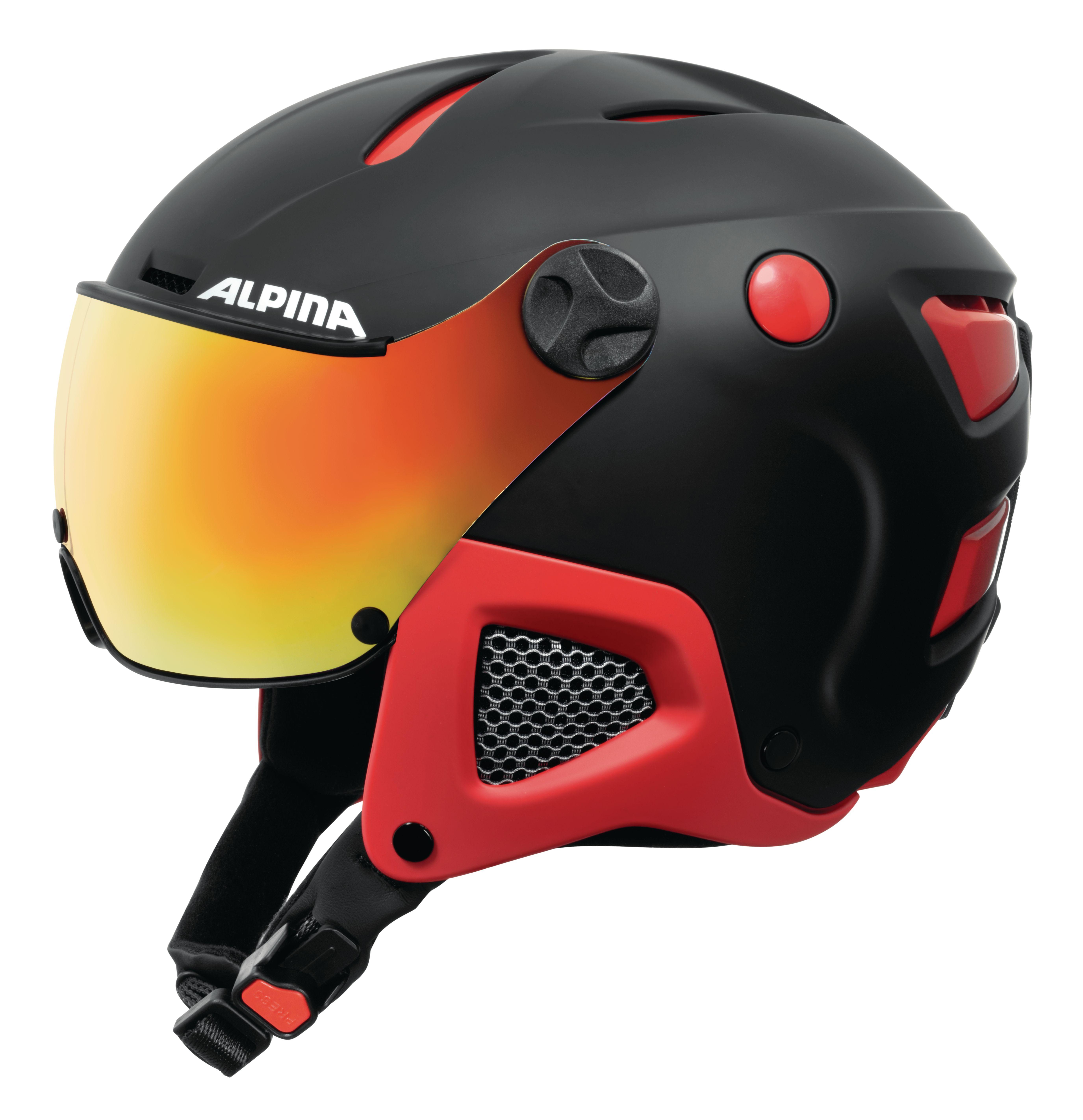 Alpina ATTELAS Visor QVM black red matt