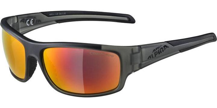 Alpina Testido Eyewear Anthracite Matt Black Red Mirror