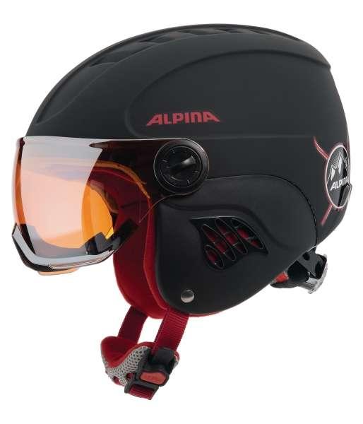 Image of Alpina CARAT LE VISOR HM Skihelm - black-red matt
