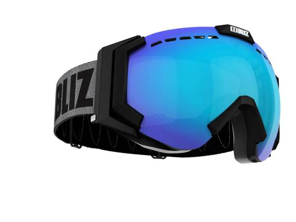 Image of Bliz Carver Skibrille - Matt Black - Brown w Blue Multi - CAT.3