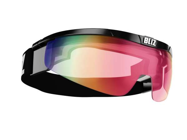 Image of Bliz Proflip, OTG Sportbrille - Black - Pink w Red Multi + Clear - Cat.1 + Cat.0