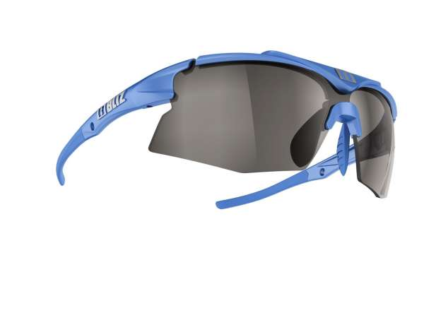 Image of Bliz Tempo Small Face Sportbrille - Metallic Blue - Smoke w Silver Mirror + Orange - Cat.3 + Cat.2