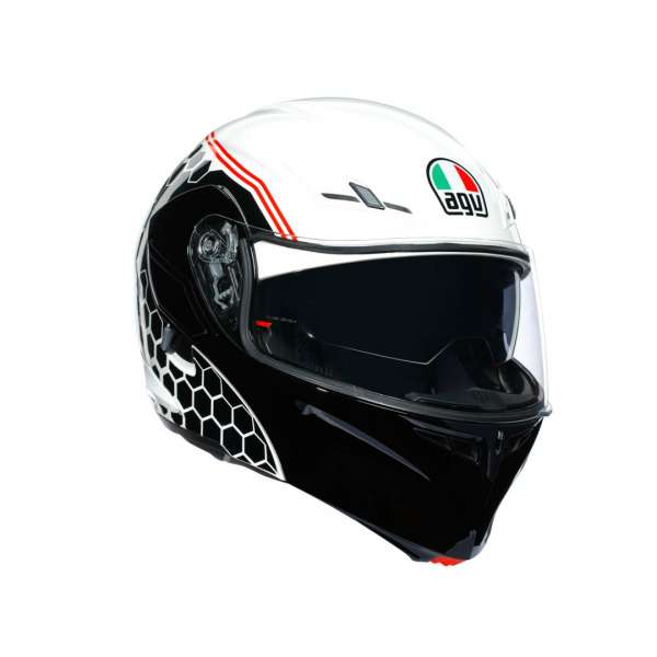 Image of AGV Compact ST Detroit Klapphelm - weiss-schwarz-rot