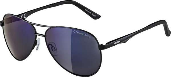 Image of Alpina A 107 Sportbrille - black matt blue mirror