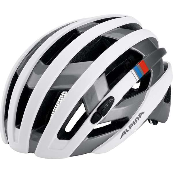 Image of Alpina Campiglio Velohelm - white-silver blue-red