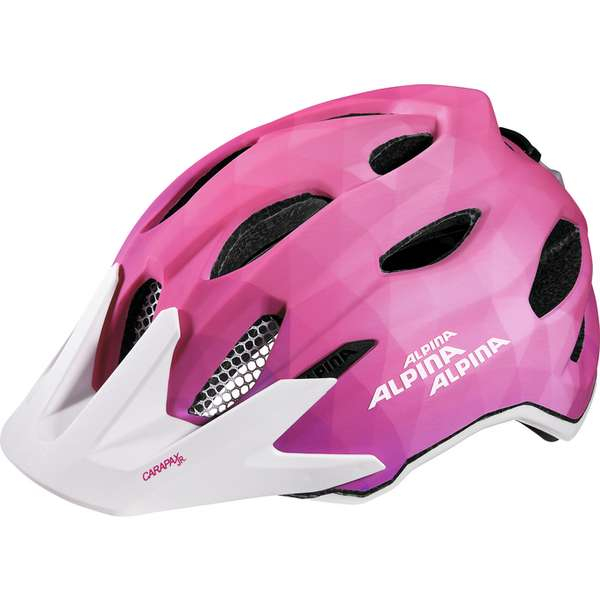 Image of Alpina Carapax Jr. Flash Velohelm - pink-white