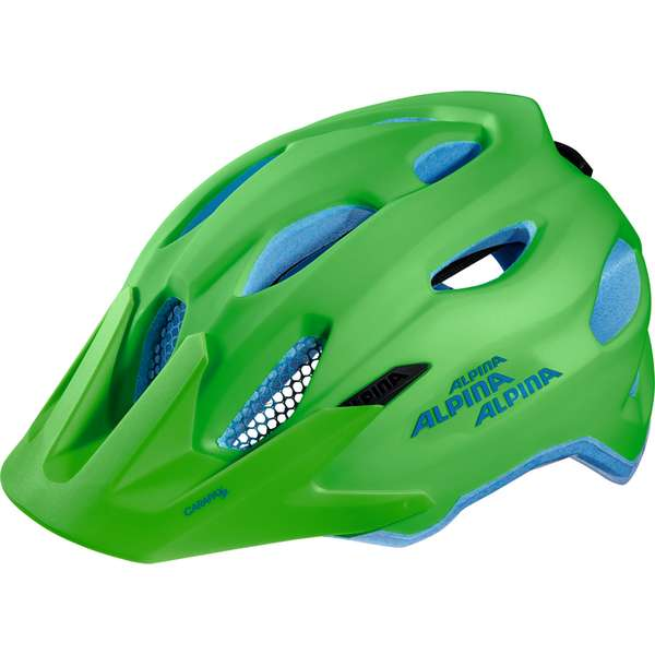Image of Alpina Carapax Jr. Velohelm - green-blue