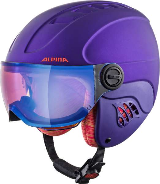 Image of Alpina CARAT LE VISOR HM Skihelm - royal-purple mat