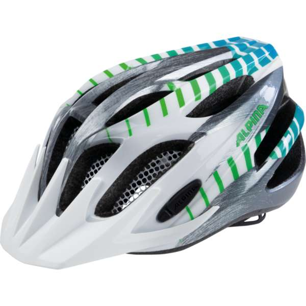 Image of Alpina FB JR. 2.0 Flash Velohelm - white-steelgrey-gradient
