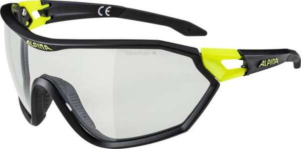 Image of Alpina S-WAY VL+ Sportbrille - black matt-neon yellow black