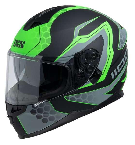 Image of iXS HX 1100 2.2 Integralhelm - schwarz matt-grün