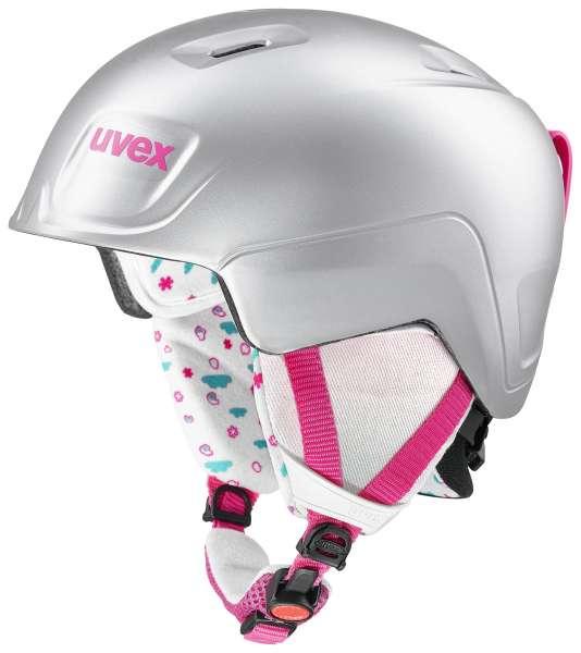 Image of Uvex Manic Pro Skihelm - titanium-pink met mat