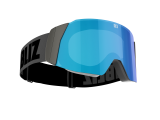 Bliz Air Skibrille - Black - Smoke with Blue Multi - CAT.3