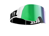 Bliz Air Skibrille - White - Brown with Green Multi - CAT.3